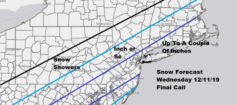 Colder Air Moves In Overnight Some Snow Wednesday Morning