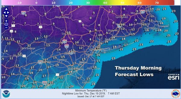 Drying Out Tonight Chance Snow Showers Wednesday Very Cold Thursday Friday
