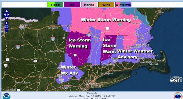 Ice Storm Winter Storm Warnings Upstate NY New England Advisories NE PA NW NJ