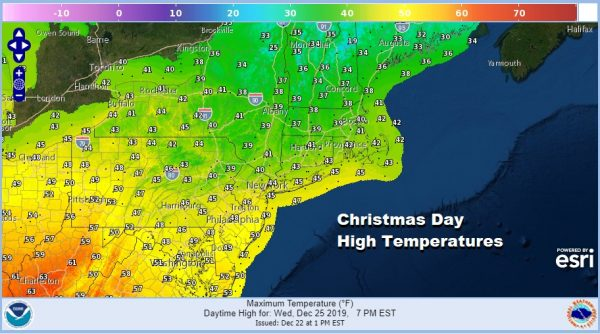 Hanukkah Christmas Calm Slightly Above Average Temperatures No Storms All Week
