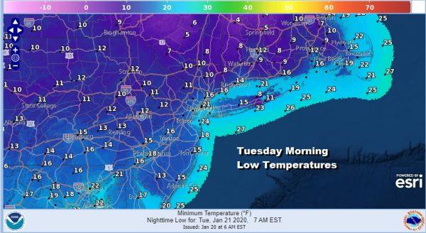 Cold Dry Week Ahead Coastal Low Develops This Weekend