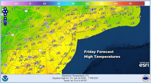 Temperatures Moving Higher Weekend System Mostly Rain