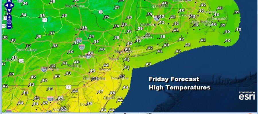 A Bit of Rain Friday Night into Saturday Morning Warmer Early Next Week