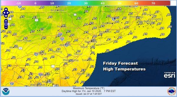 Winter Weather Advisory New Jersey RT 195 South Wind Advisory Wednesday