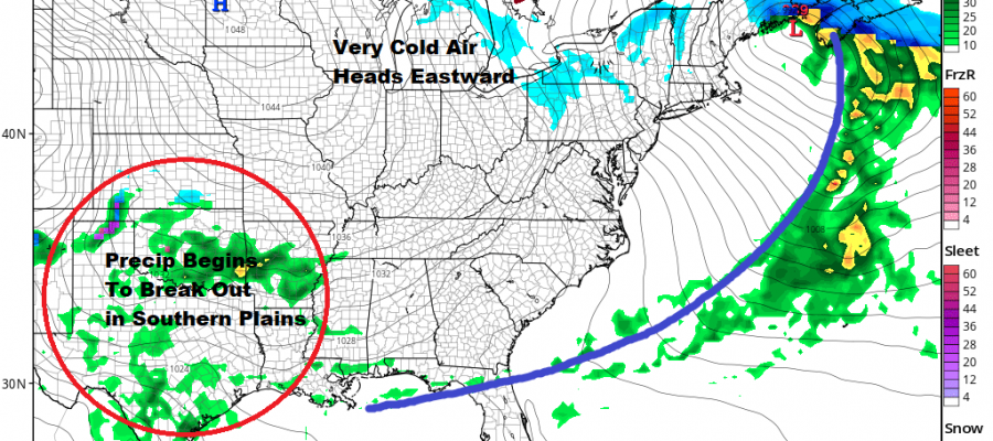 Stepping Down To Colder Late Week Snow Ice Rain Likely Saturday