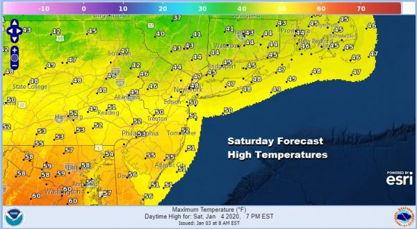 Another Round of Rain Before Colder Drier Air Arrives Sunday