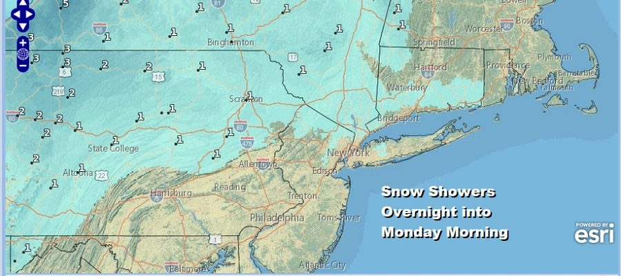 Snow Showers Overnight Chance For Snow Late Tuesday Into Tuesday Night