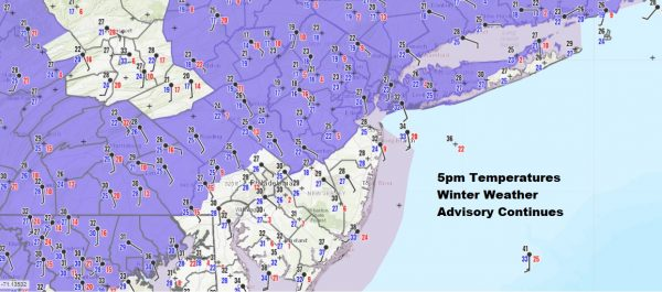Cold Air Hanging Tough This Evening Winter Weather Advisories Continue