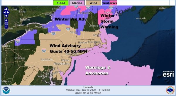 Wind Advisory Howling Northwest Winds Very Cold Friday Snow Sleet Rain Saturday