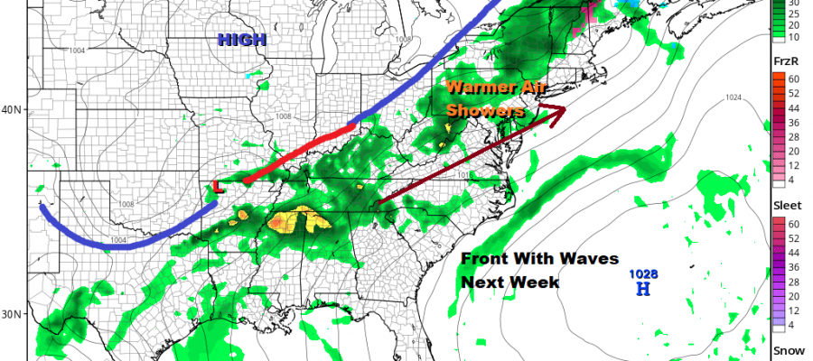 Cold But Dry Weekend Warm Up Next Week Showers Arrive Tuesday