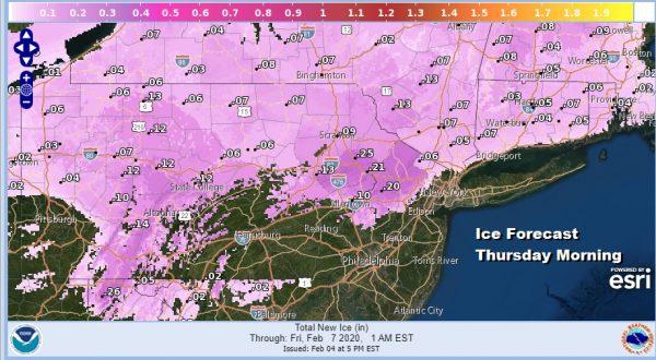 Winter Weather Advisory NW New Jersey NE Pa Thursday Morning Rain Later Tonight
