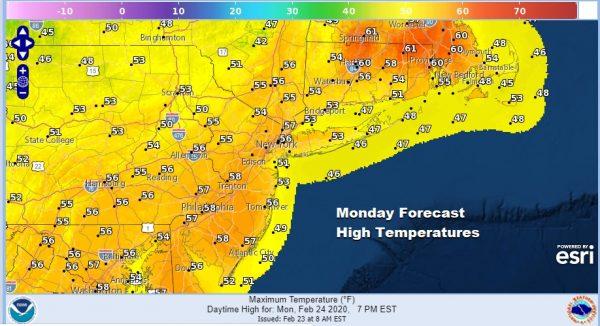 Sunshine 50s Springlike Sunday Rain Returns Monday Night Tuesday