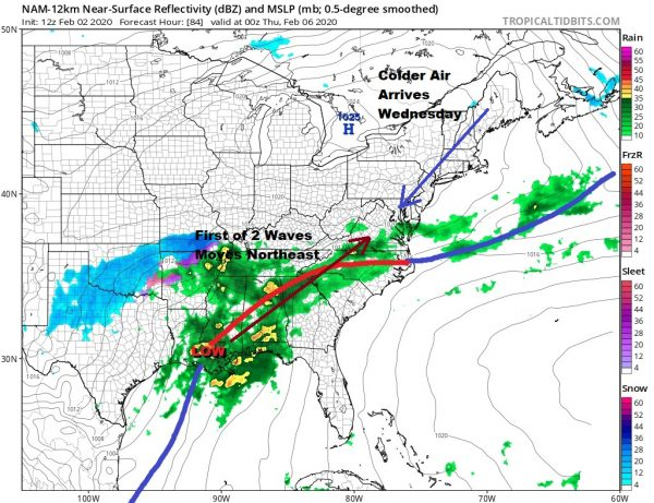 Warm Air Arrives With Snow/Rain Showers Monday Tuesday Warm Days