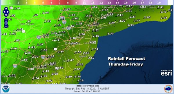 Winter Weather Advisories Inland Flood Watch For Heavy Rains Coast