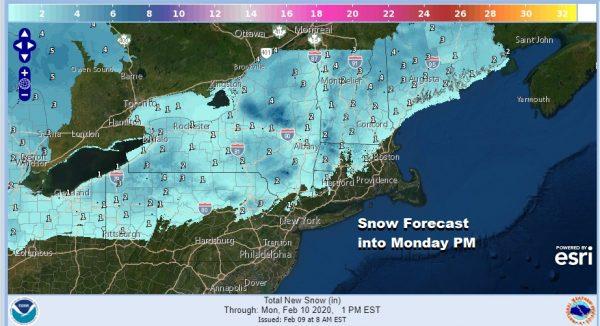 Rain Late Tonight Burst of Snow Inland, On & Off Rain Into Thursday, Very Cold Late Week
