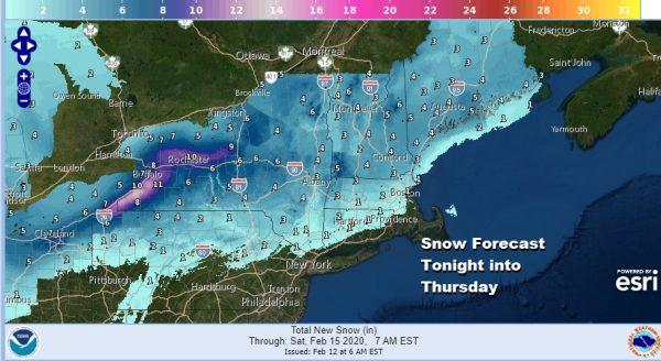 Winter Weather Advisory NE Pennsylvania Catskills & Northern Connecticut