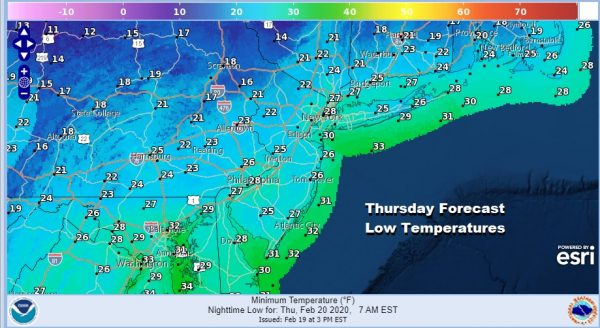 Snow North Carolina Southern Virginia Storm System Passes Week South of the Northeast