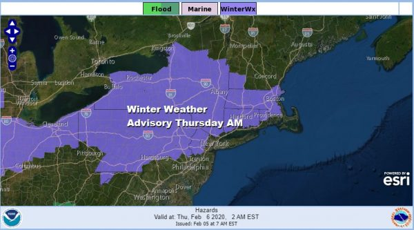 Winter Weather Advisory Overnight into Thursday Heavy Rain Thursday Night Into Friday