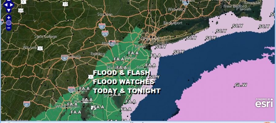 Major Storm Heavy Rains Late Today into Friday Flood Watches Posted