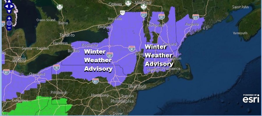 Winter Weather Advisory NE Pennsylvania Catskills & Northern Connecticut