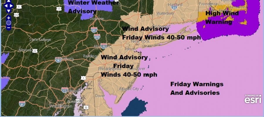 Flood Watches Wind Advisories Major Storm Impacting East Coast Florida to Maine