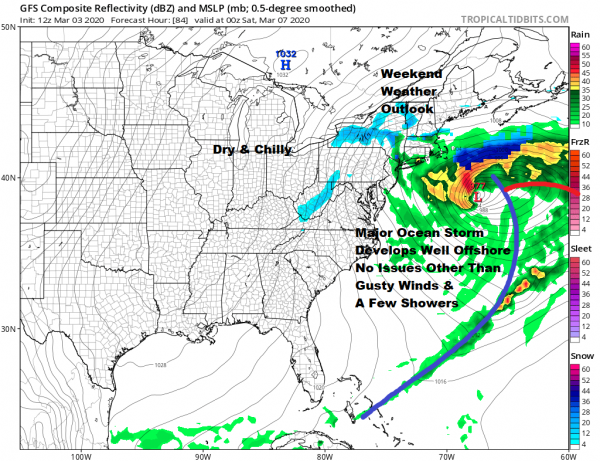 Showers Into Tonight Slow Improvement Wednesday Thursday Coastal Storm Offshore Friday Saturday