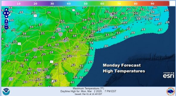 Monday Brings Warmer Temperatures Showers Later Monday Night Into Tuesday