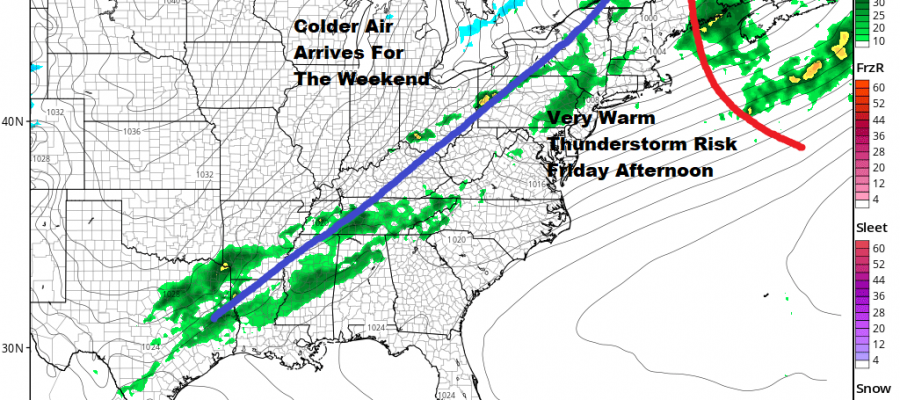 Warm Front Approaching Severe Weather Possible Friday Weekend Chilly