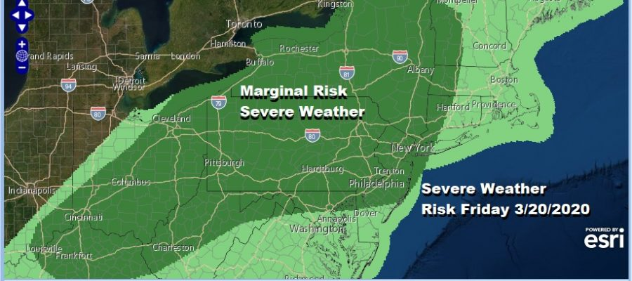 Heavy Rains Exit East Severe Weather Risk Friday Spring Arrives