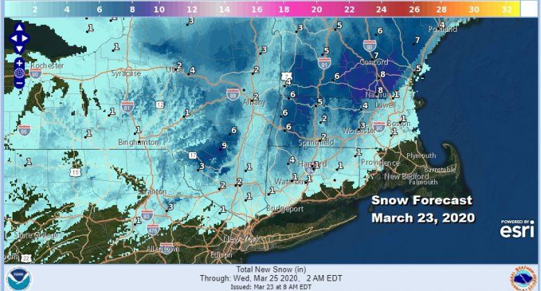 Winter Storm Warnings Catskills Berkshires Cold Rain Coast