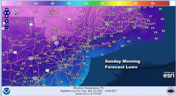 Chilly Sunday Burst of Snow to Rain Monday