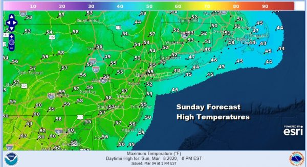 Coastal Storm Develops Well Offshore Mostly Dry Weekend Warmer Early Next Week