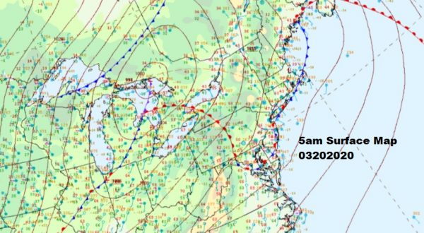 Warm Front Moving Northward Severe Weather Risk Later Today
