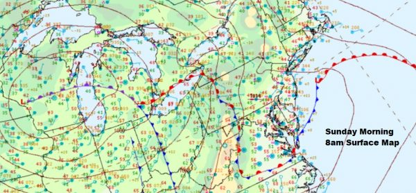 Severe Weather Risk New Jersey Pennsylvania Soupy Sunday Ahead