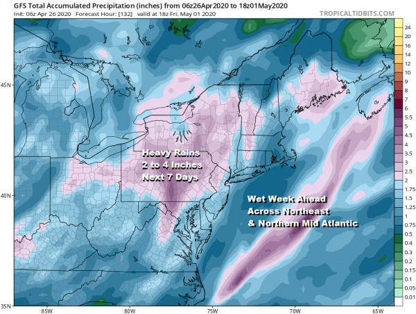 Patchy Rain Doom Gloom Sunday Monday, Dry Tuesday Showers Thunderstorms Thursday
