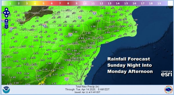 Easter Weekend Dry Major Storm Brings Heavy Rains Wind Thunderstorms Sunday Night Into Monday
