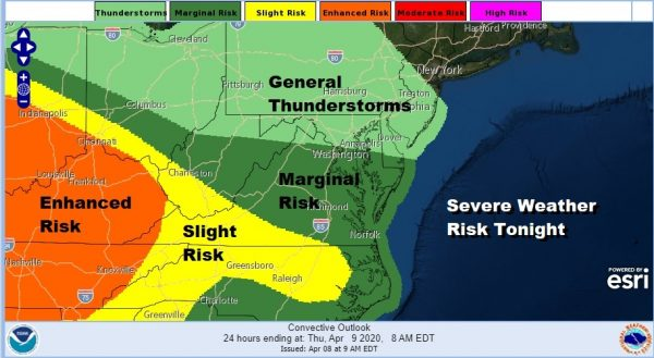 Severe Weather Risks Tonight Into Thursday Easter Weekend Dry Rain Sunday Night Monday