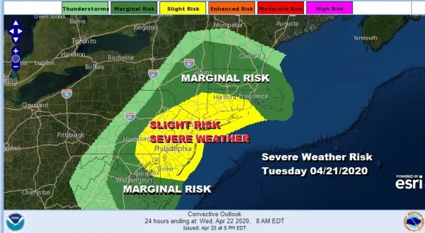 Severe Weather Risk Upgraded Tuesday Long Range Active & Wet