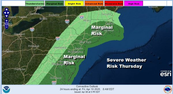 Severe Weather Shifts Into the East Thursday Easter Sunday Dry But Storm Nears At Night