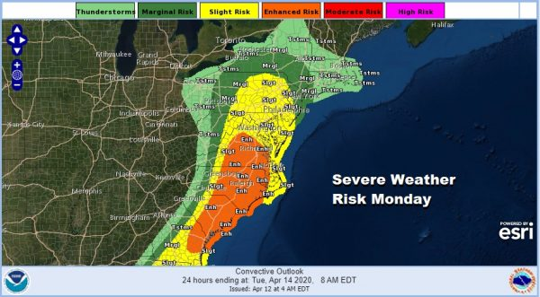 High Wind Warning Monday Severe Weather Heavy Rains