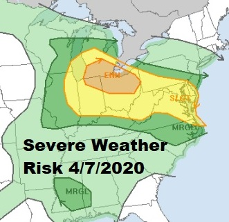 Severe Weather Risk Overnight Easter Weekend Outlook