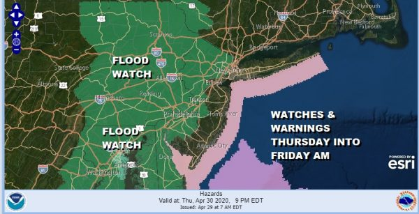 Flood Watch Posted Thursday Into Friday Morning Heavy Rains 1 to 2 Inches Forecast