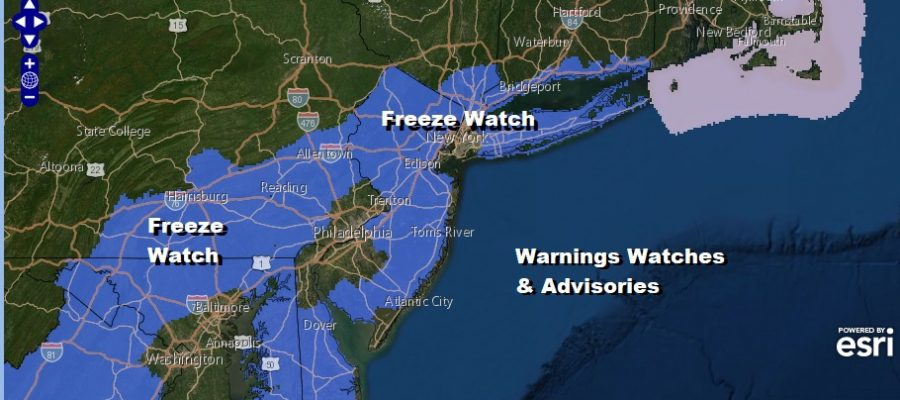 Freeze Advisory Overnight into Friday Morning Cold Rain Follows Into Saturday
