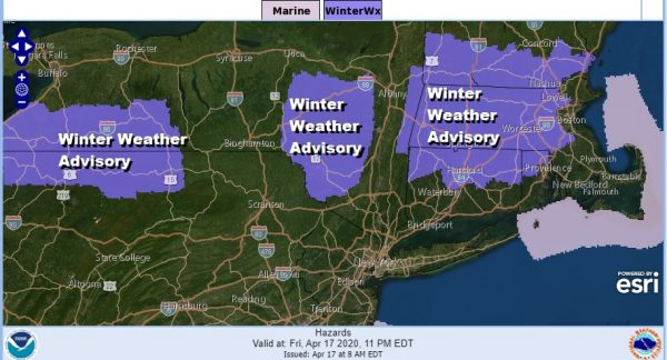 Winter Weather Advisory Northern PA Catskills Northern Connecticut