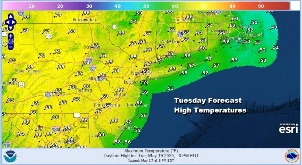 Beautiful Tuesday Sunshine Dry Air Drains Southward