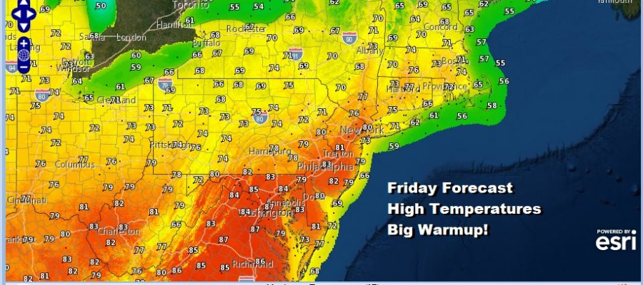 Cold Night Ahead Dry Into Friday Warmer Temperatures Late Week