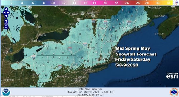 Snow Forecast Friday Saturday Unusually Cold Northeast Mid Atlantic Mothers Day Weekend