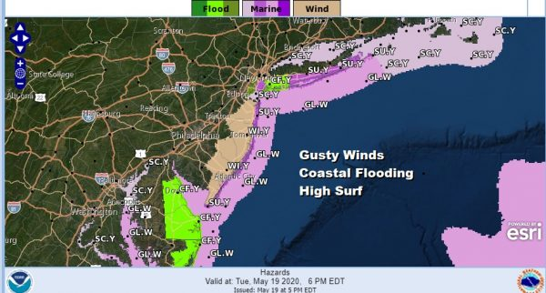 Gusty Winds At The Shore Coastal Flooding Possible Dry Into Friday
