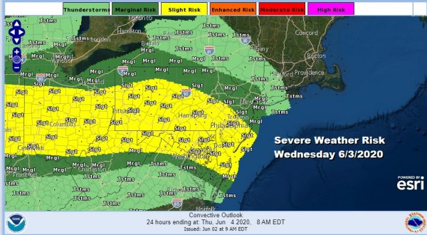 Some Showers This Afternoon Severe Weather Risk Wednesday