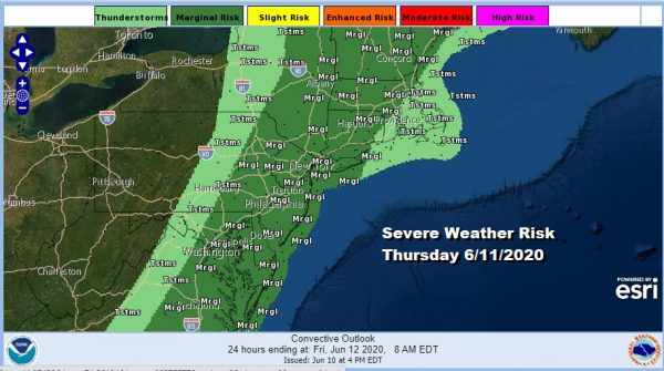 Severe Weather Risk Thursday Cold Front Passes Through
